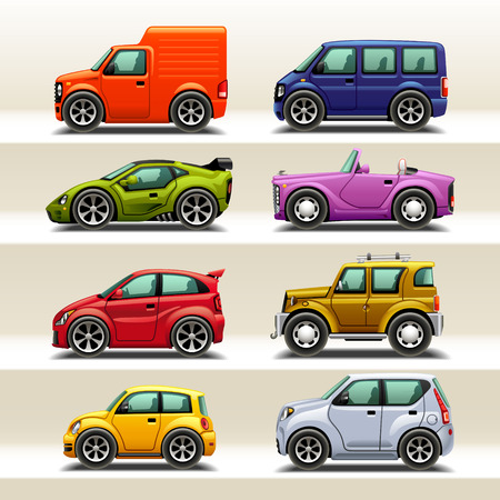 transport icon: car icon set-2 Illustration