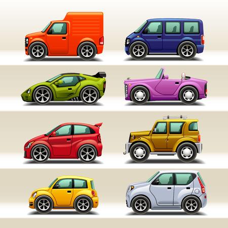 carritos de juguete: icono del coche set-2