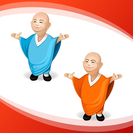 budha: character design Illustration
