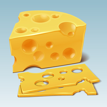 parmesan cheese: Cheese vector Illustration