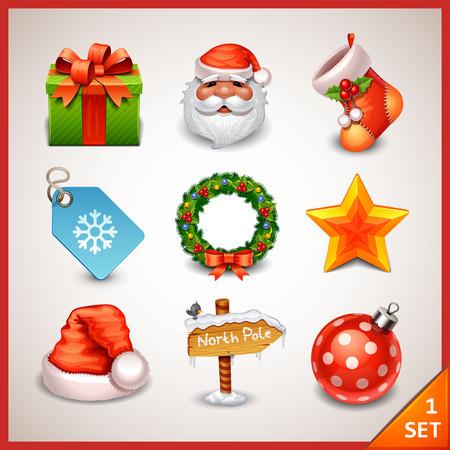 Christmas icon set-1 Illustration