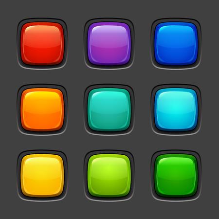 Botones de color Foto de archivo - 36273862