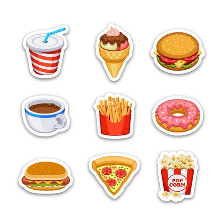 baked potatoes: Food icons set