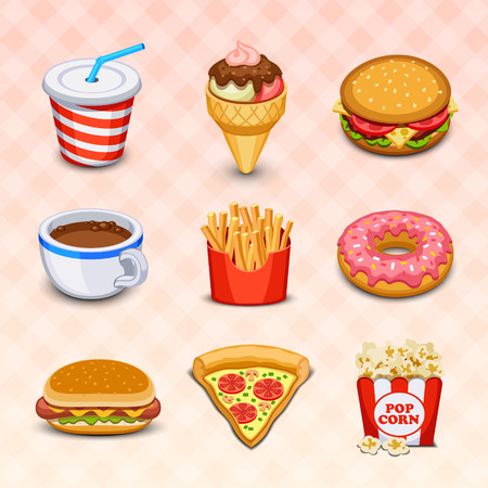 cartoon food: Food icons