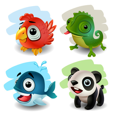 funny animals Illustration