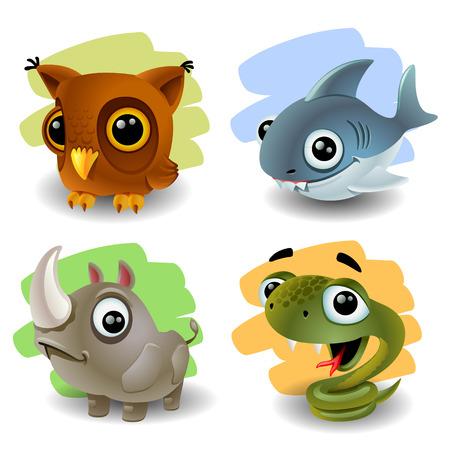 snake eyes: funny animals-set 2