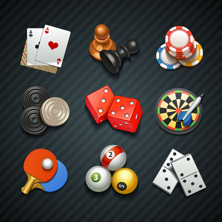 poker chips: games icons
