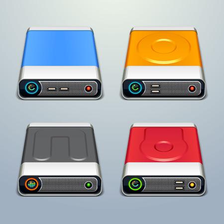 disco duro: iconos de unidad de disco duro