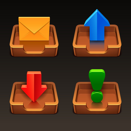 incoming: mailbox icons Illustration