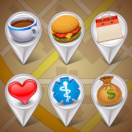 position d amour: marqueurs de carte-set 1 Illustration