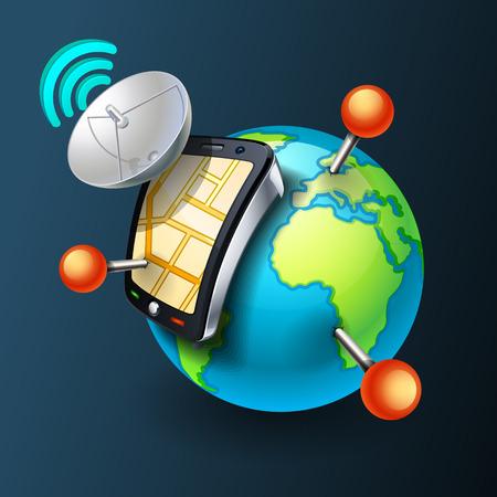 mobile gps Illustration