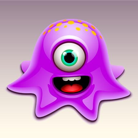 ojos caricatura: monstruo