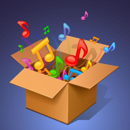 music box Vektorové ilustrace
