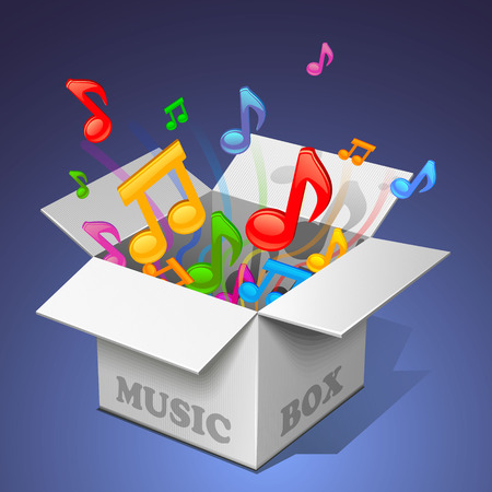 boite a musique: bo�te � musique - blanc