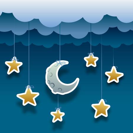 noche y luna: noche papel