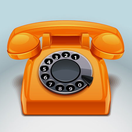 old phone: retro phone icon