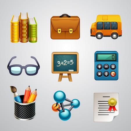 molecule icon: School icons-set 3