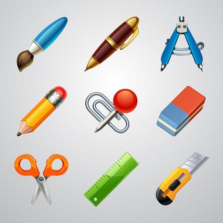 School icons-set 1 Ilustração