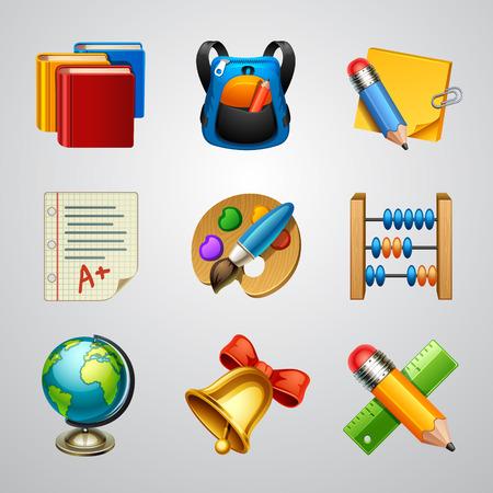 set icon: School icons-set 4 Illustration