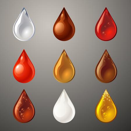 rain drop: set of drop