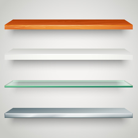 web elements: shelves