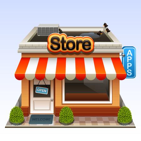 shop icon  イラスト・ベクター素材