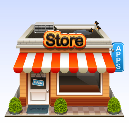 web store: shop icon Illustration