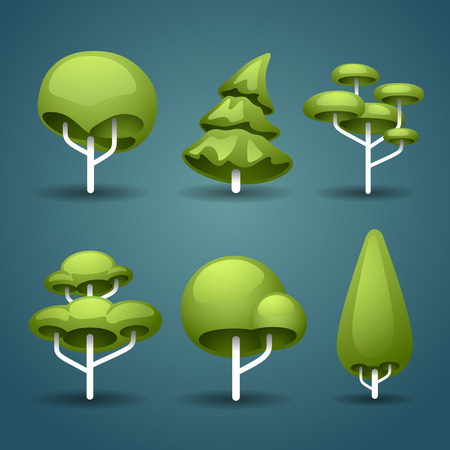 topiary: stylized trees