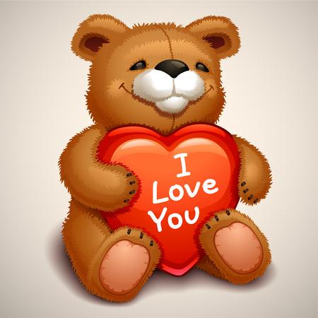 teddy bear love: teddy bear Illustration