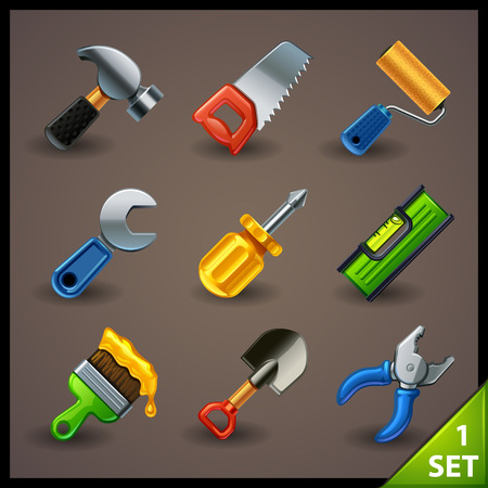 repair computer: tools icon set-1