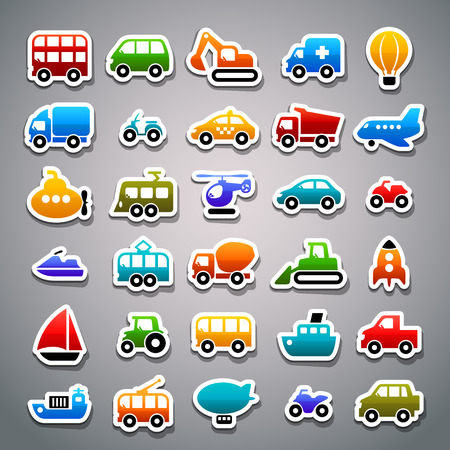 transportation sticker icons Stok Fotoğraf - 36275097