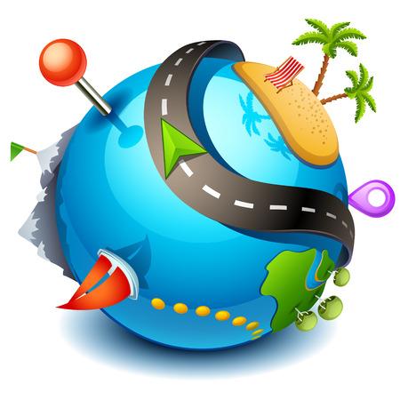 Travel icon  イラスト・ベクター素材