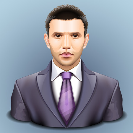 men in suits: Vector user icon