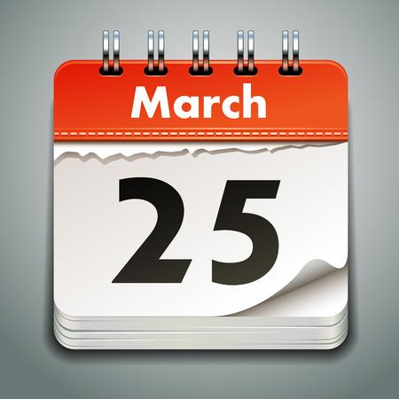 calendar page: Vector calendar Illustration