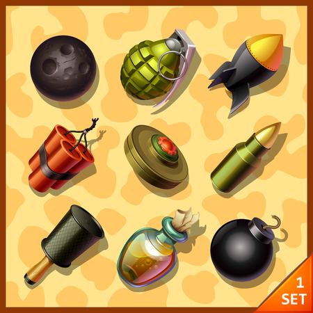 detonating: weapon icons
