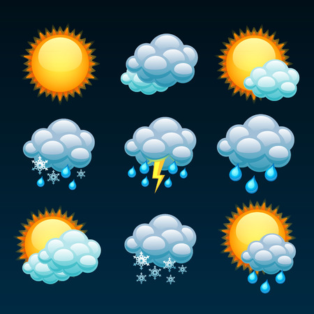 weather forecast icons Stok Fotoğraf - 36275369