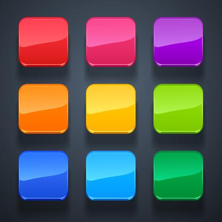 achtergrond voor de app-pictogrammen-glazenset