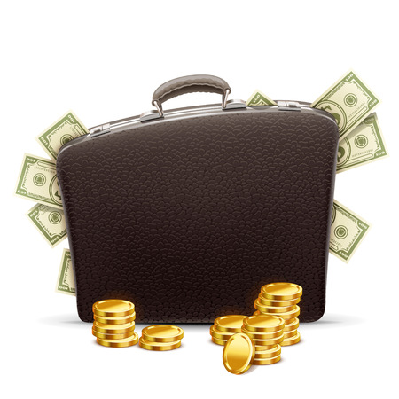 business briefcase: business briefcase full of money
