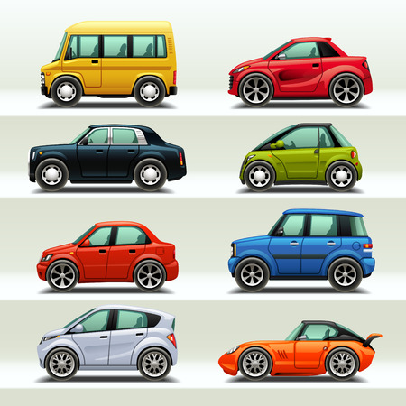 toy cars: car icon set-3
