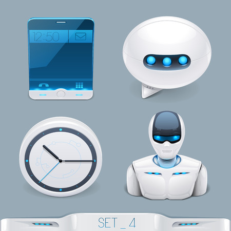 iconset: futuristic multimedia devices and technology icon-set 4
