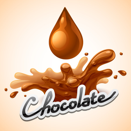 chocolate caliente: Bienvenida de chocolate caliente Vectores