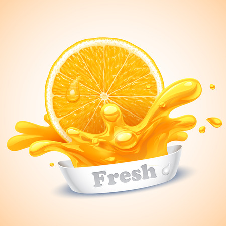 orange: Juicy orange