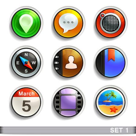 round button: round button icons-set 1