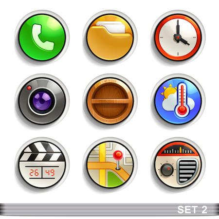 round button: round button icons-set 2