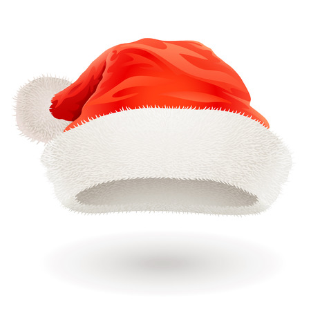 wearing santa hat: Santa Claus hat Illustration