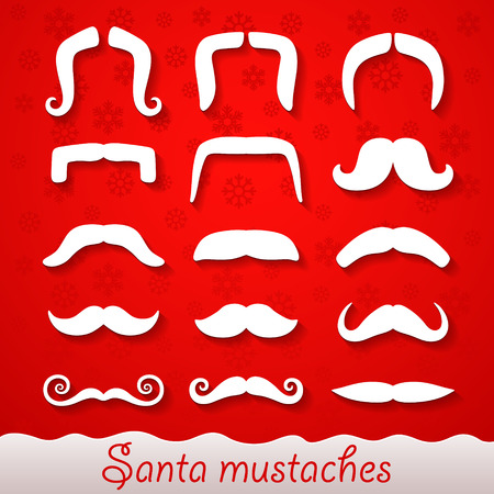 mustaches: Santa mustaches