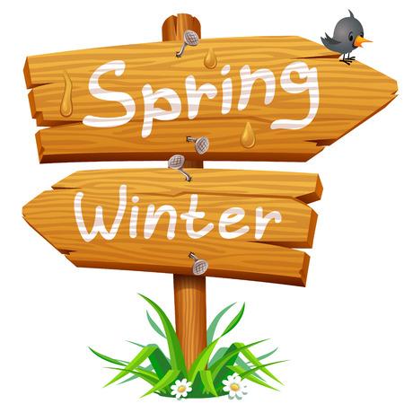 봄 나무 화살표 아이콘
