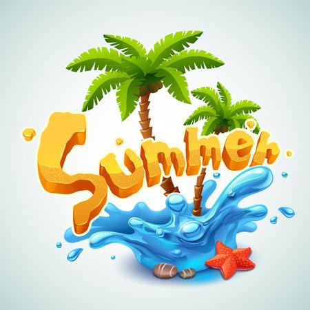 vacaciones en la playa: Ilustraci�n del verano