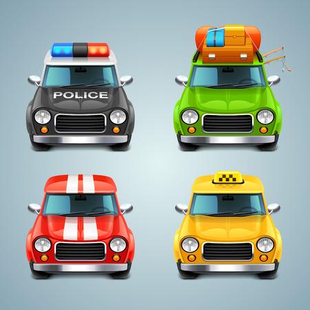 vector car icon set