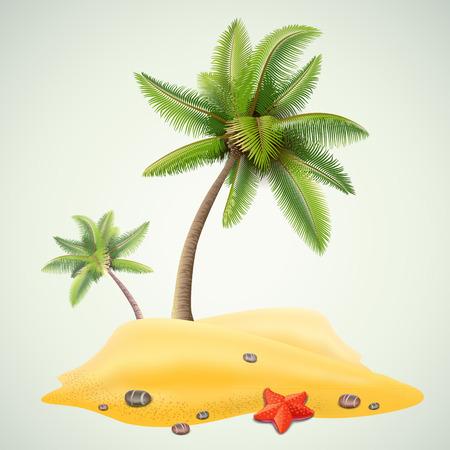 palm: sunny palm beach